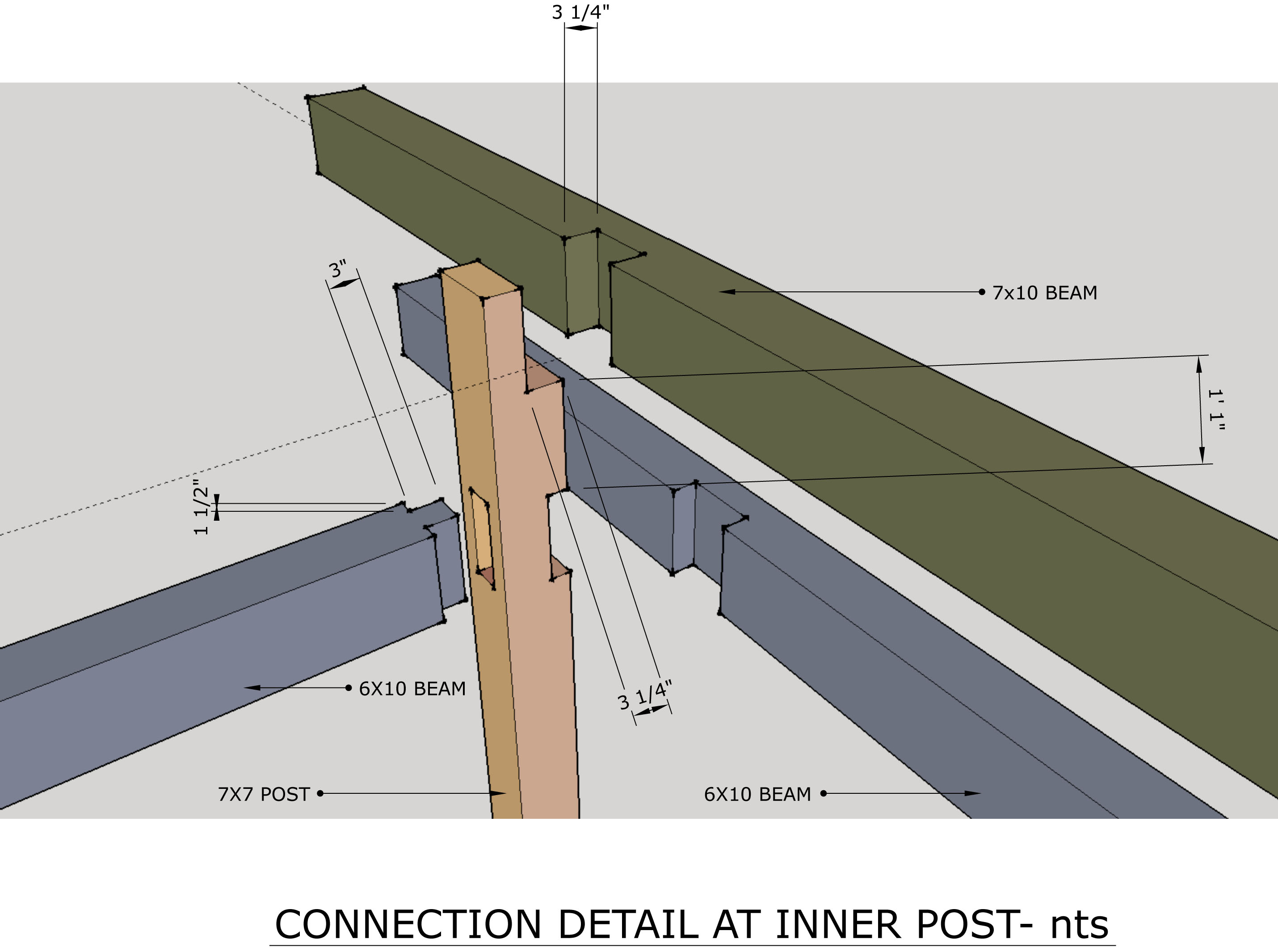 Timber Assembly detail, Layout Drawing