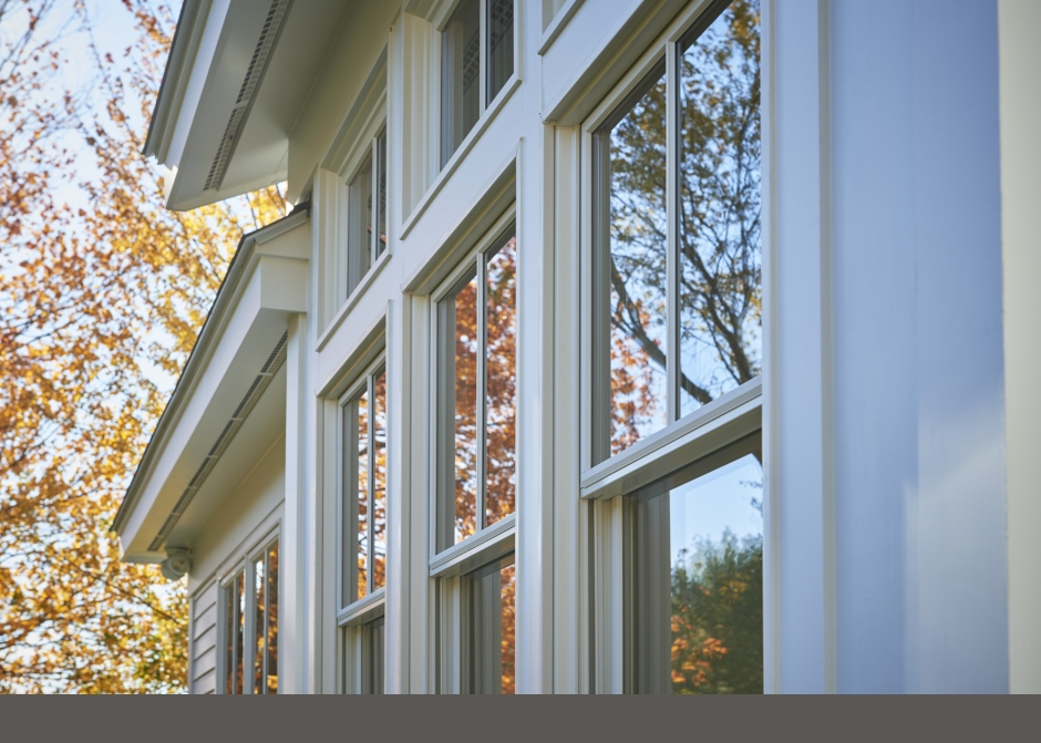 Andersen Windows, Maine Architect, tall Windows, white siding