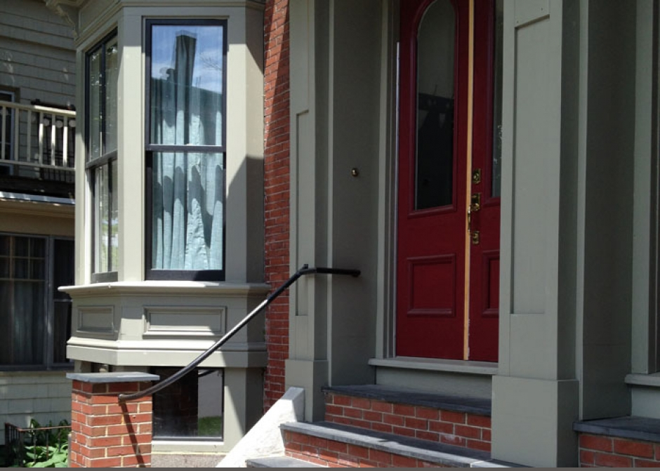 New front entrance, historic renovation