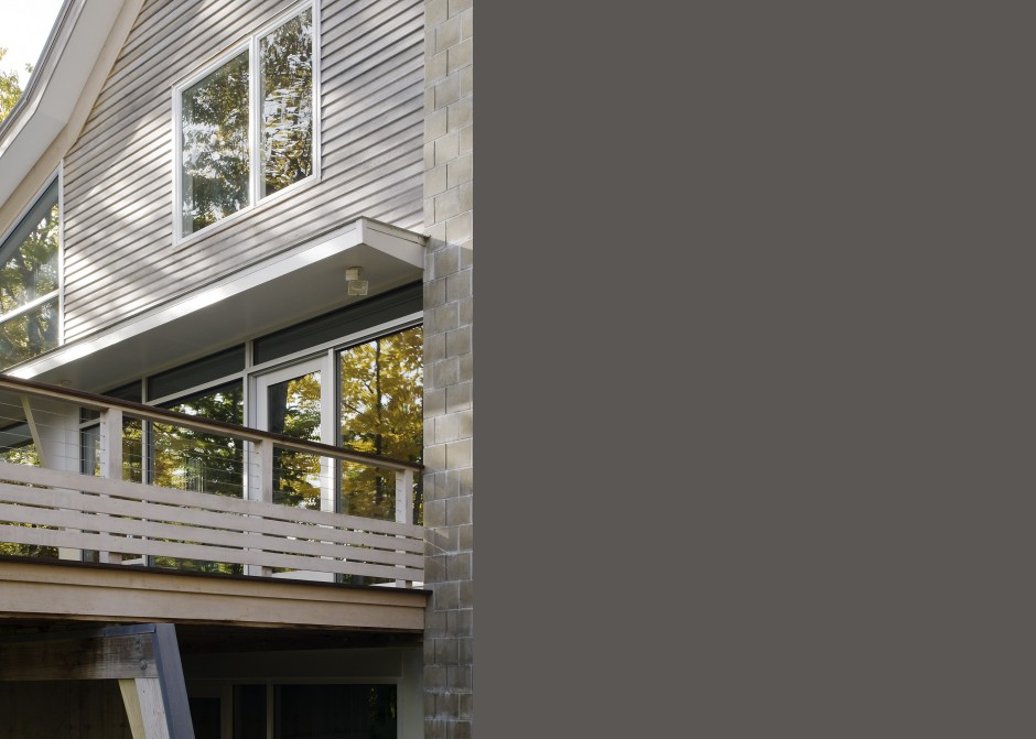 Cable railing, Maine Architect, Waterfront home, custom house, cedar siding