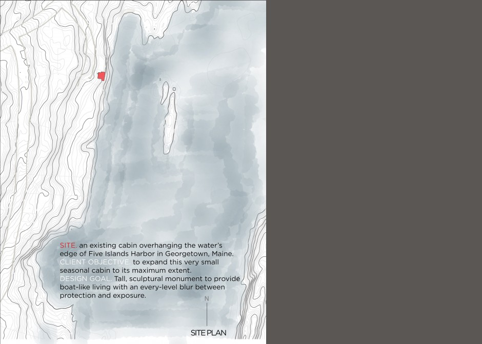 Site Plan, Waterfront project, Georgetown Maine, Maine Architect, AIA unbuilt awards
