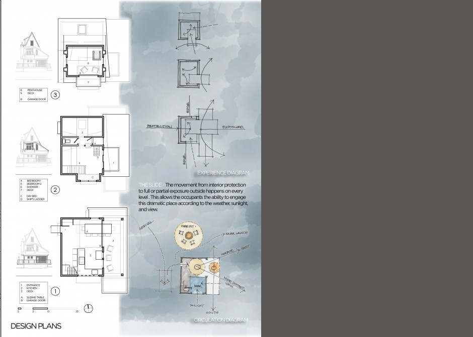 floor plans, design renderings, small cabin floor plan, Maine Architect