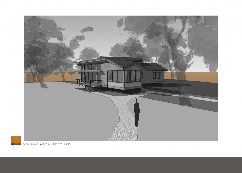 Architecture rendering, Waterfront home, lake cottage, Maine cottage, Maine camp