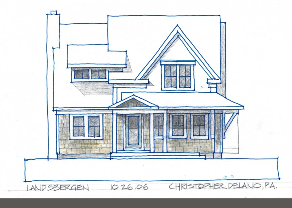 Architectural rendering, Maine Architect
