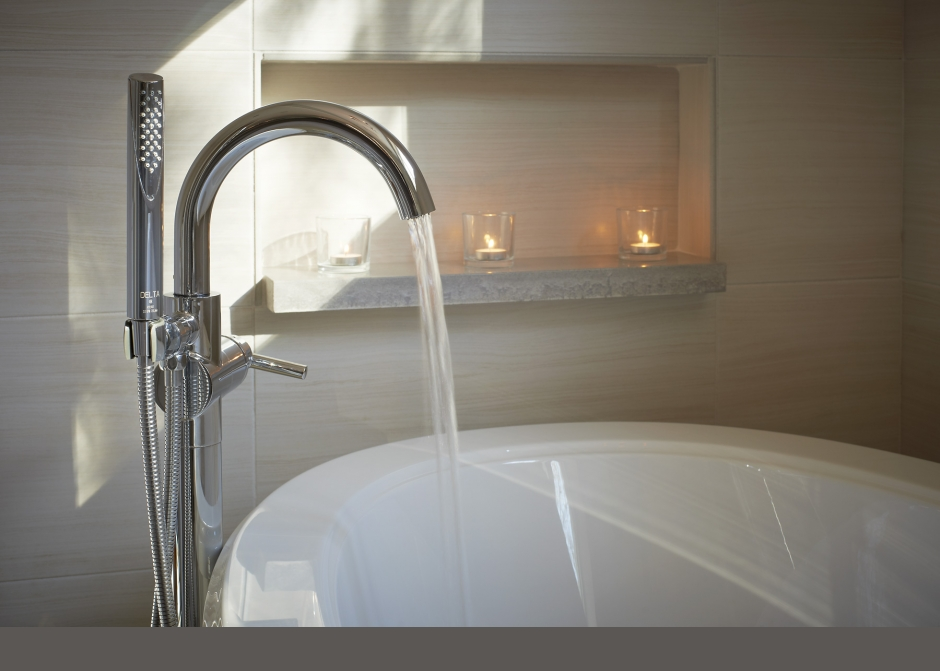 Modern tub filler, air tub, Maine Architect,