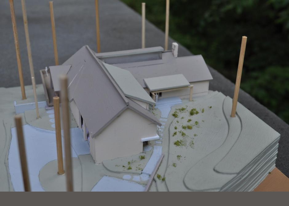 Maine Architect, Thomas Pond, Lake front home, Architecture Model