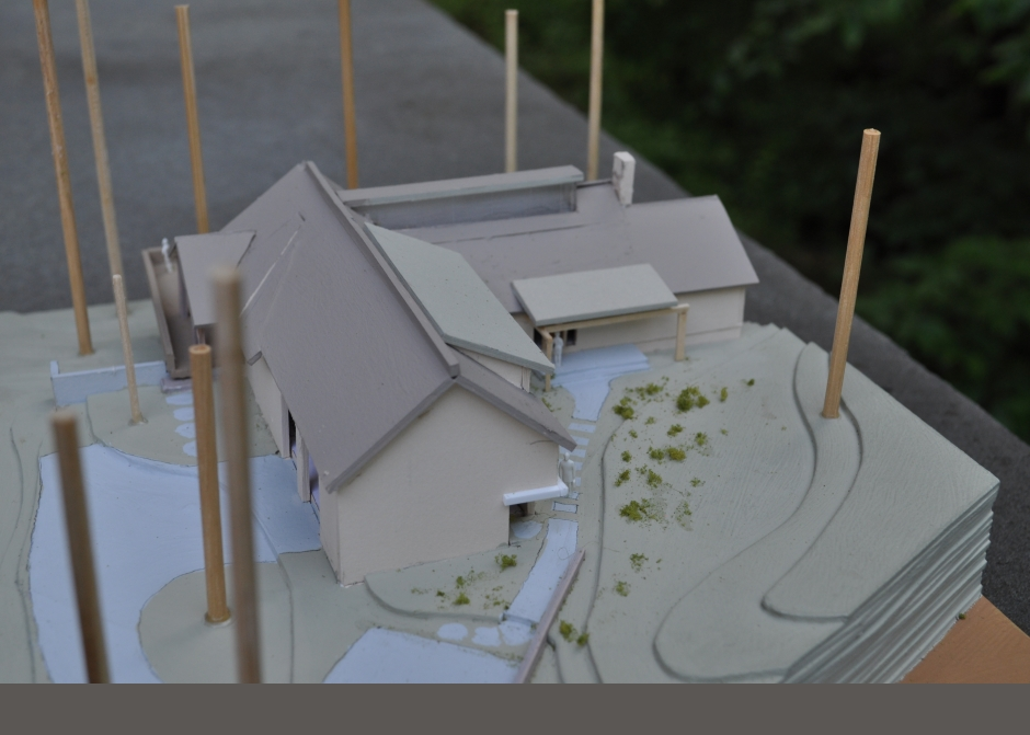 Maine Architect, Thomas Pond, Lake front home, Architecture Model