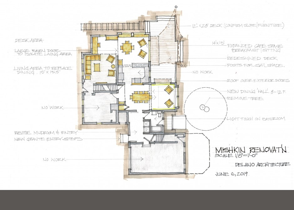 Design Floor Plan, South Portland Architect, Maine Architect