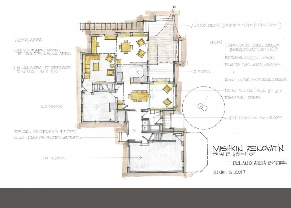 Design Floor Plan, South Portland Architect, Maine Architect