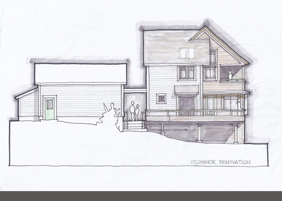 Maine Architect, Architecture rendering, Marker rendering