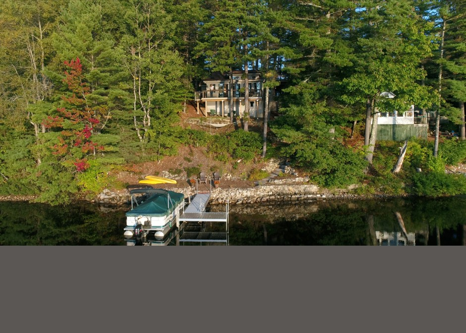 Waterfront home, Maine Architect, Mousam Lake, Lake side deck