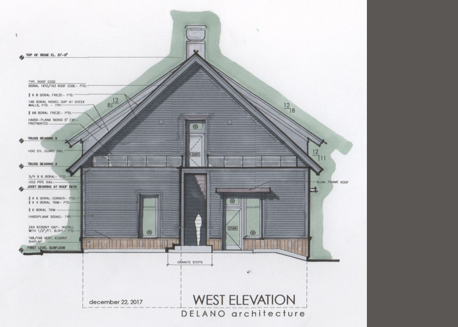 Design Rendering, Maine Architect, Architect Sketch