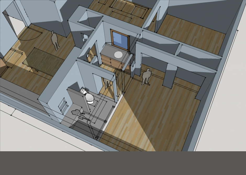 Architectural rendering, Sketchup, Maine Architect, Design drawing