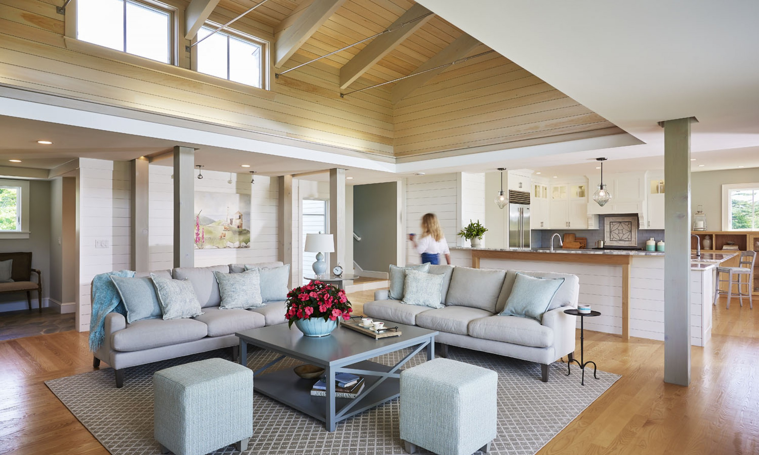 wood ceiling, cathedral ceiling, wood floors