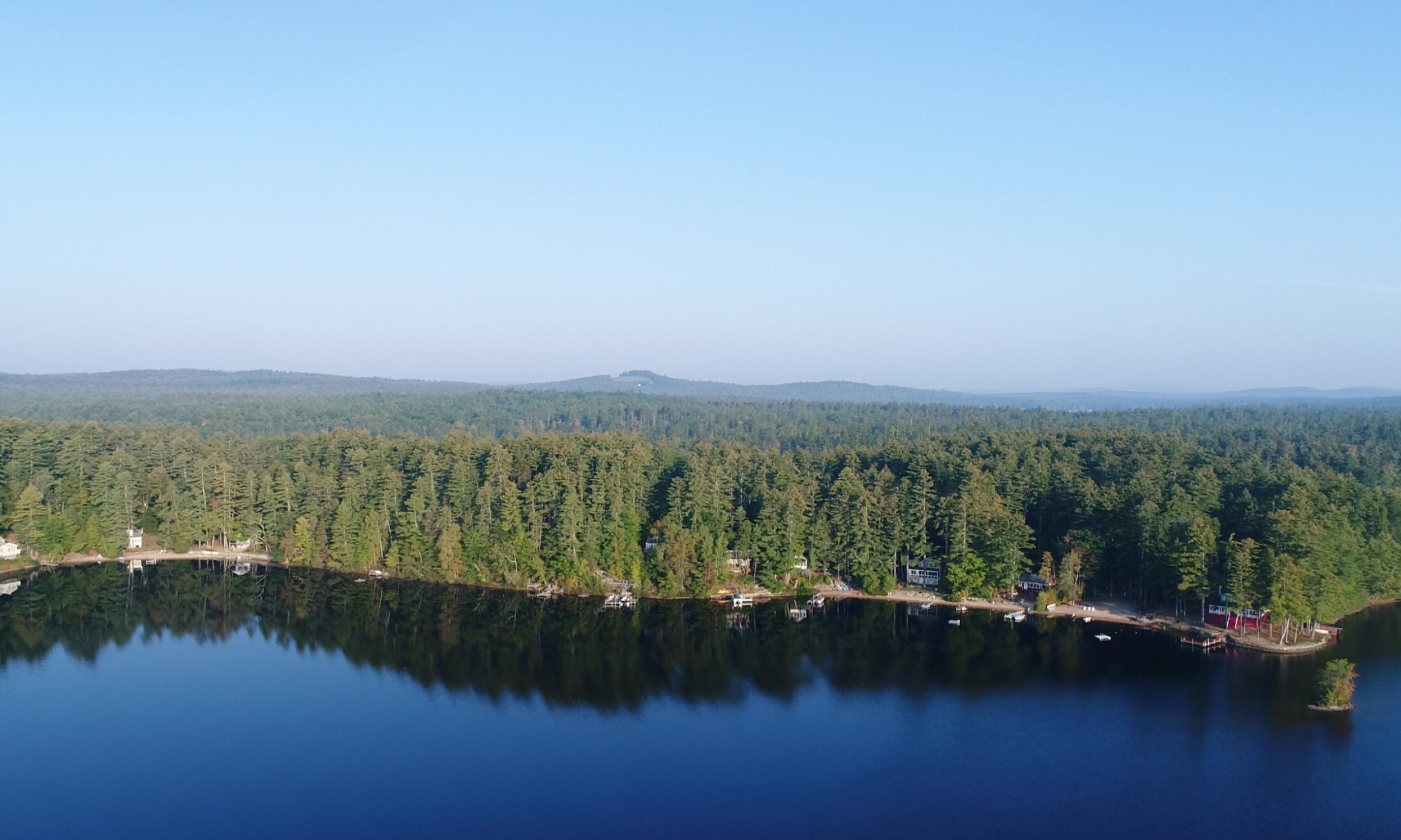 Mousam Lake aerial photo, Lake front design, Maine landscape, Lake, waterfront