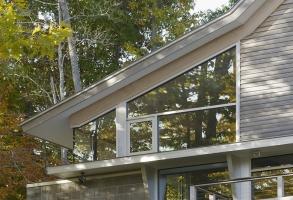 Storefront Glass, Natural Light, Modern Architecture, Corner window, Maine Architect