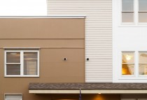 Maine Architect, Hardiplank siding, painted plywood