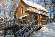 Cedar Shingles, ski home, Maine Architect, Mountain Home