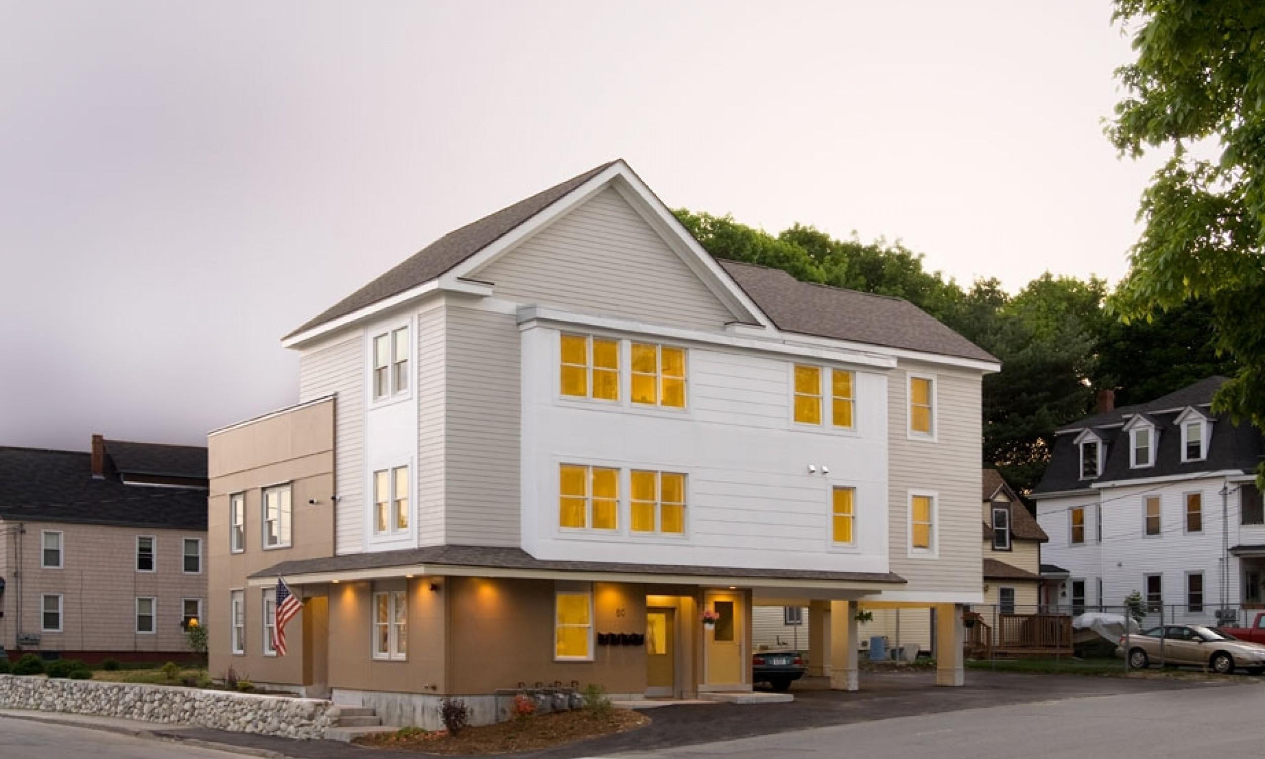 Apartment Building, Maine Architect, Carport, Andersen Windows