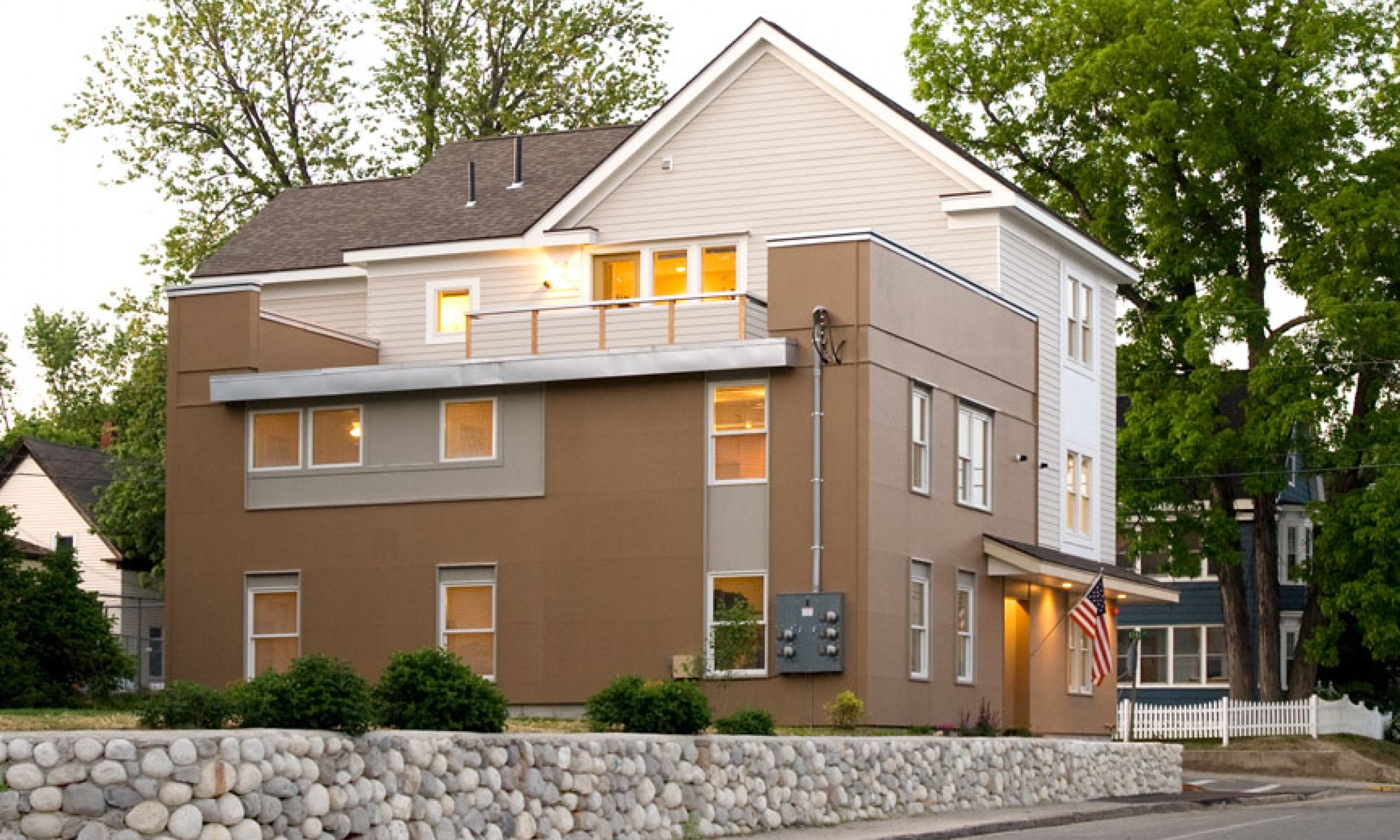 Apartments, Painted plywood, Maine Architect, Hardiplank siding