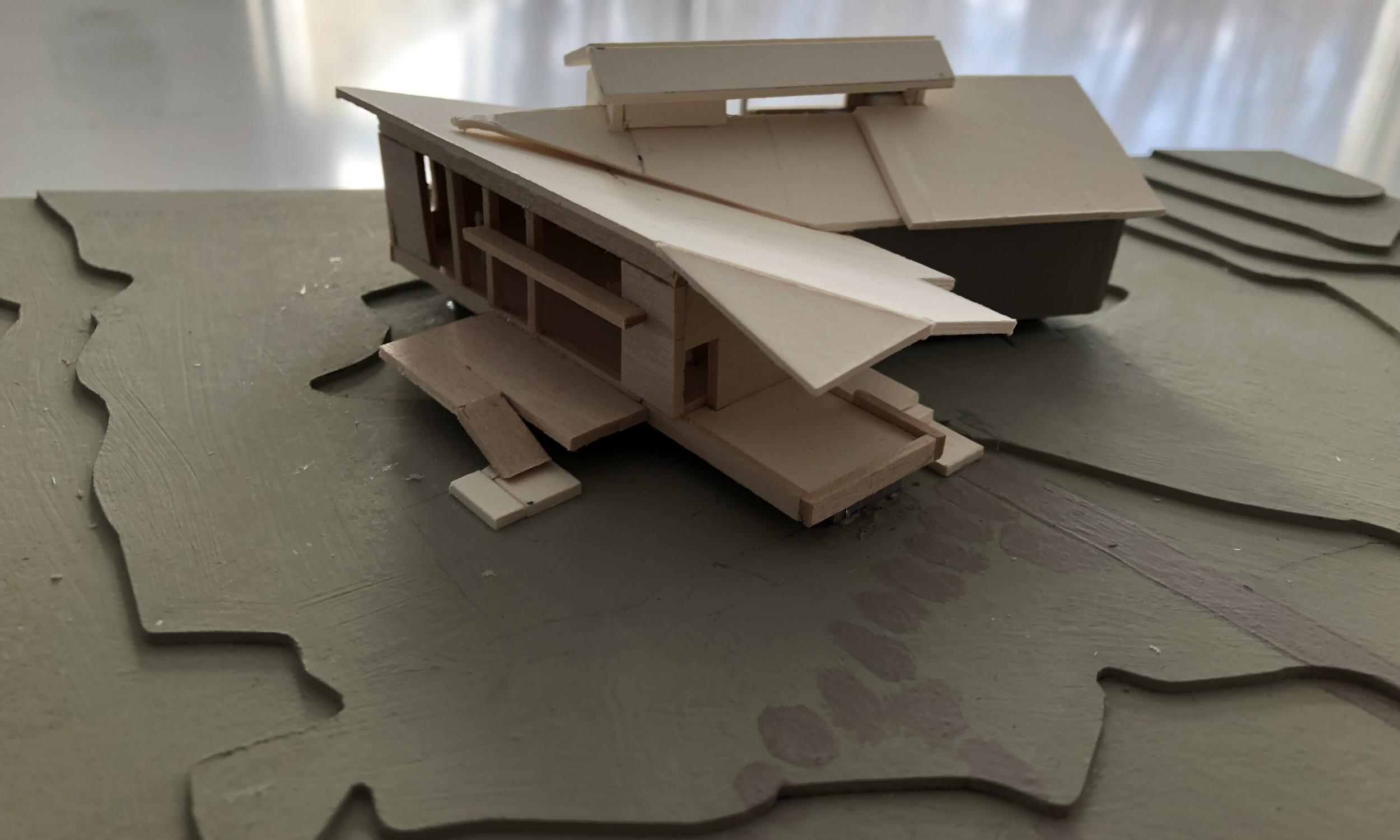 Maine Cottage, Design Model, Architecture Model