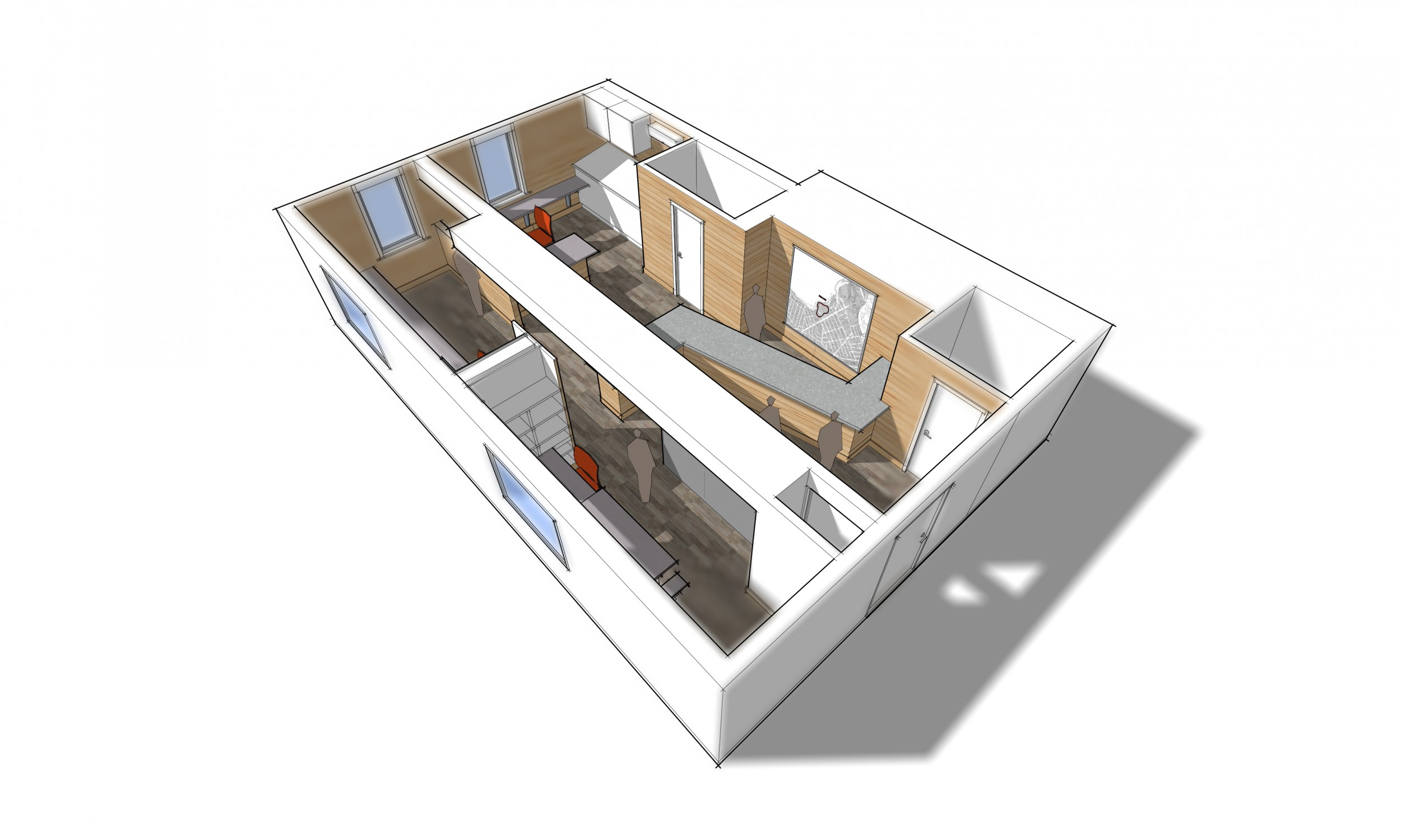 Project Rendering, Design, Sketchup rendering, Architecture