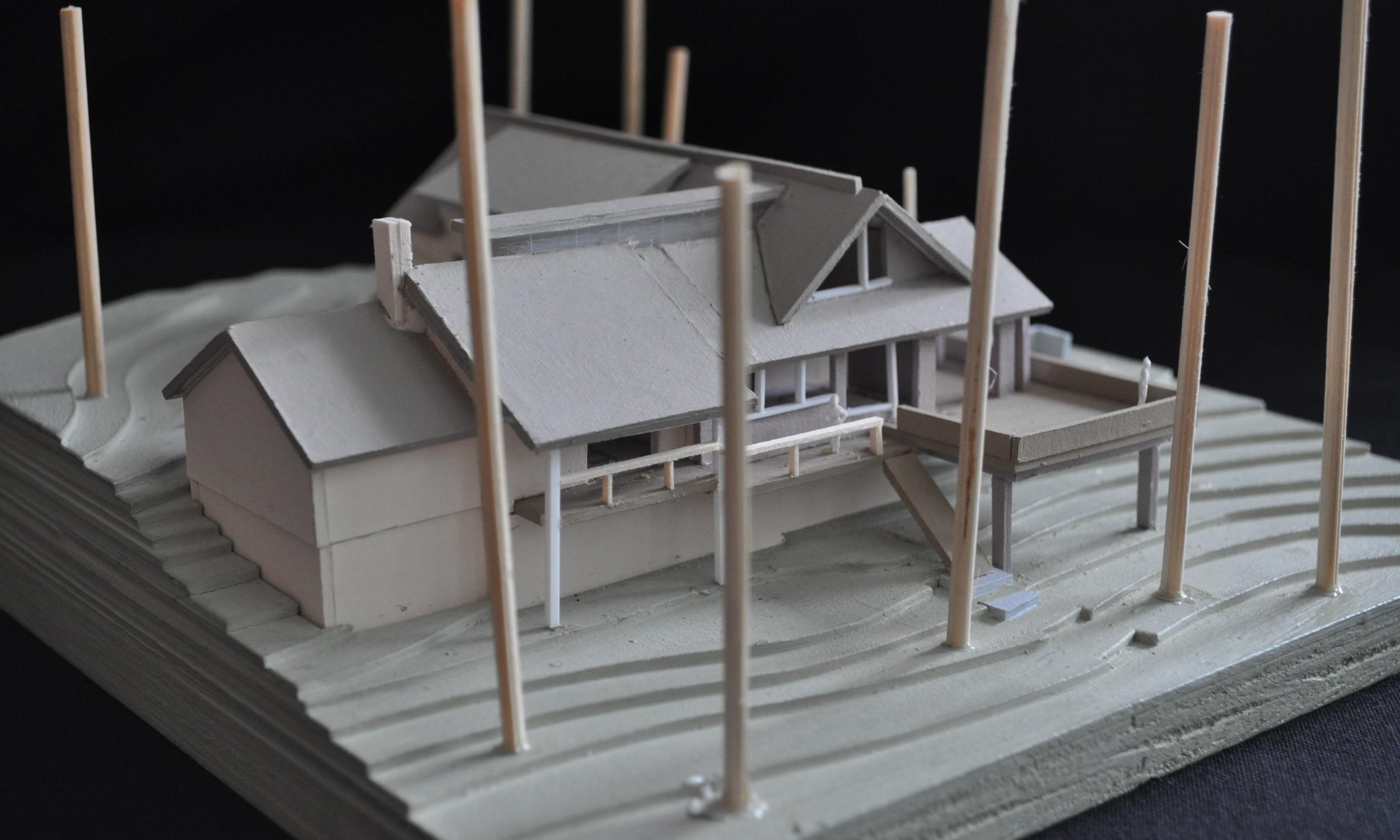 Maine Architect, Design Model, Thomas Pond, Lake front house