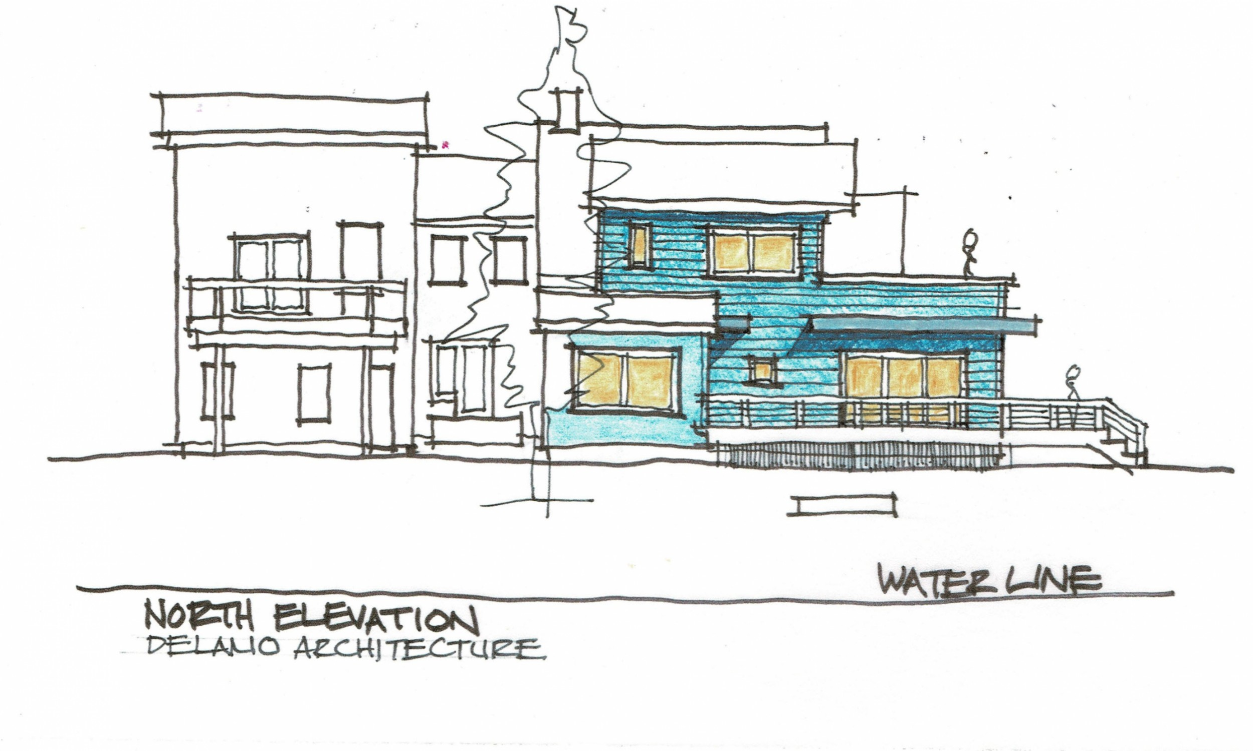 Architect rendering, South Portland Architecture, Modern design, waterfront renovation
