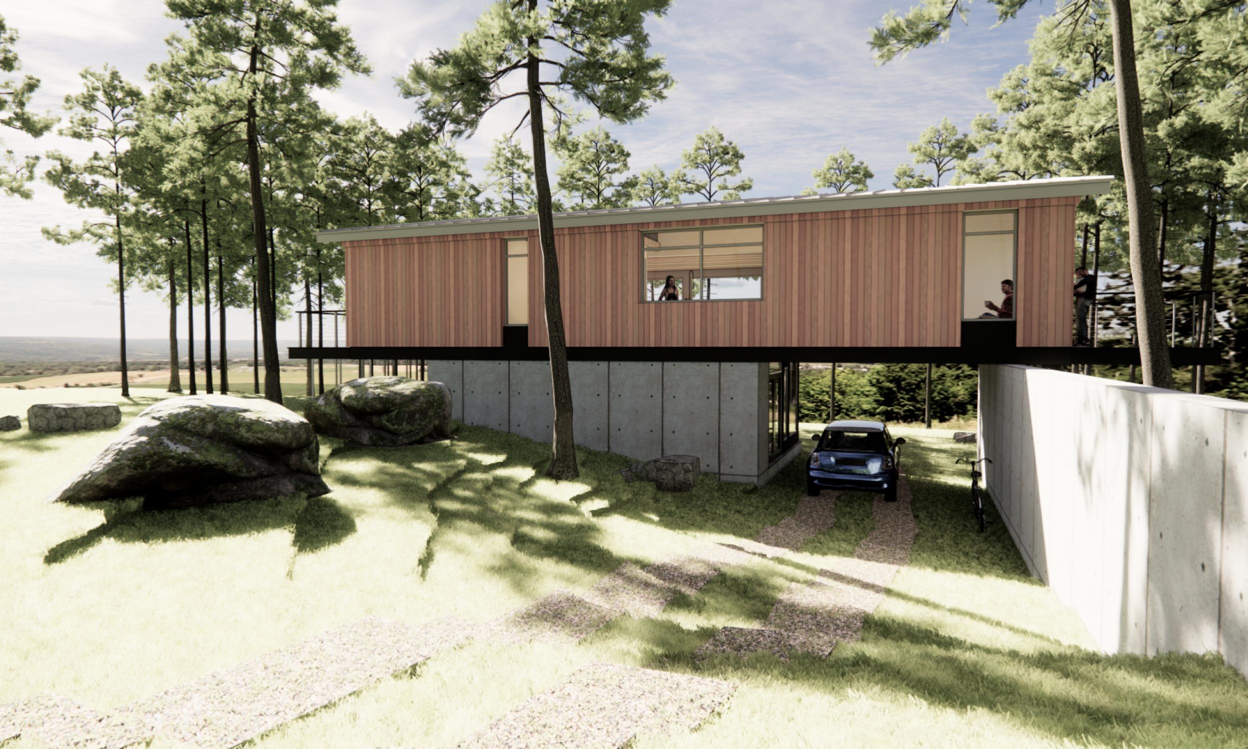 prefabricated design, sustainable, carport, maine architecture