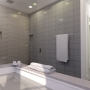 Design rendering, custom shower, Maine Architect, Podium rendering
