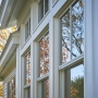 Andersen Windows, Maine Architect, tall Windows, white siding