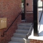 New rear entrance, apartment entrance, steel canopy