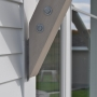 Support bracket, galvanized steel bracket, cedar bracket, Maine Architect