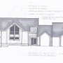 Design Rendering, garage addition, tall windows